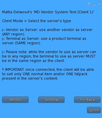 Remote Control - Client connection