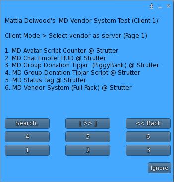 Vendor as Server - Vendor Selection