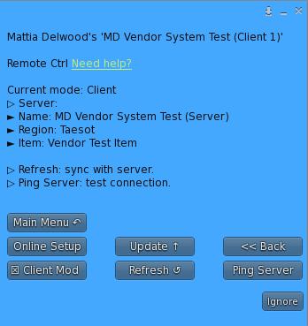 Remote Control Plugin - Menu (Client)