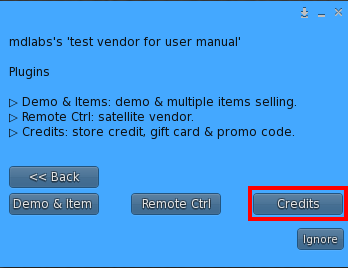 Owner Menu – Plugin sub menu