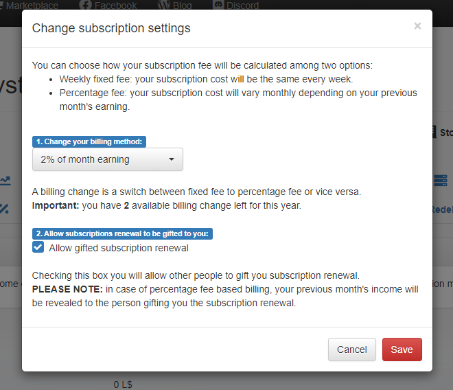 MD Vendor System Subscription - change subscription settings