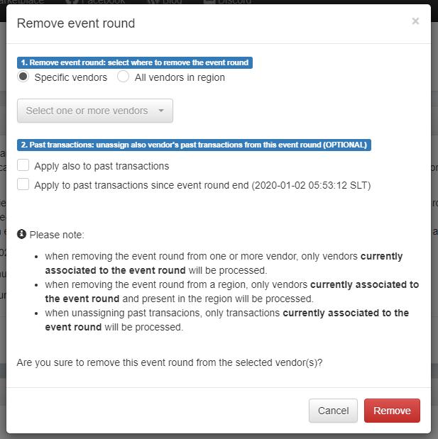 Remove Event Round