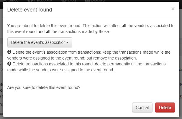 Delete Event Round