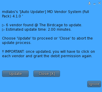 MD Vendor System Auto Updater – Update 'All' recap