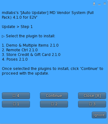 MD Vendor System Auto Updater for E2V – Plugin selection