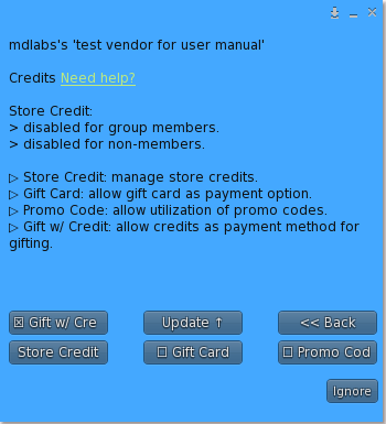 Store Credit & Gift Card Plugin – Menu