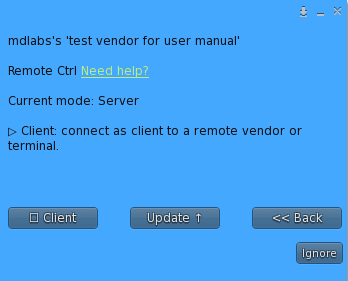 Remote Control – Plugin menu