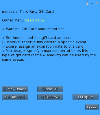 MD Gift Card Script – Gift card configuration