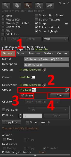 MD Security System - deeding