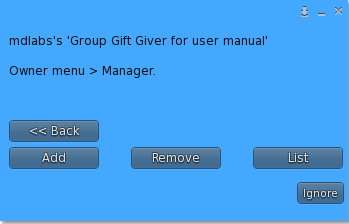 MD Group Gift Giver Script -Manager Menu