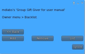 MD Group Gift Giver Script - Blacklist Menu