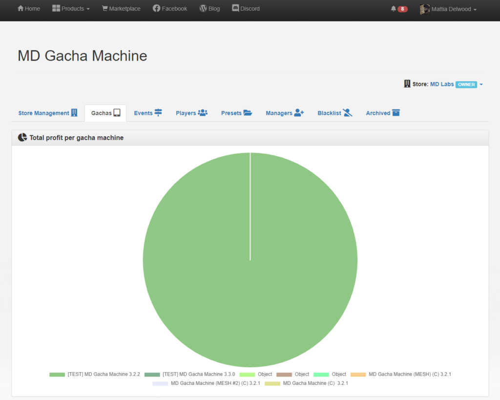 MD Gacha Machine homepage (click to enlarge)