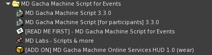 MD Gacha Machine Script For Event - Pack's content