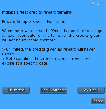 MD Credits Reward Terminal – Expiring store credits setup
